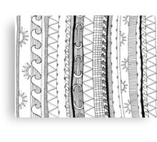 monochrome stripy patterns Canvas Print