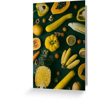 Yellow food Greeting Card