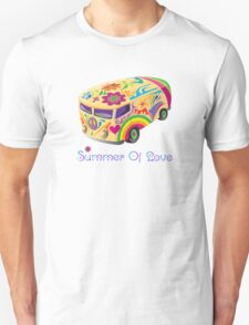 Summer of Love 60's Hippie  Vehicle T-Shirt