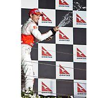 Jensen Button Podium 2010 Australian GP Photographic Print