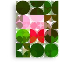 Pink Roses in Anzures 3 Abstract Circles 3 Canvas Print