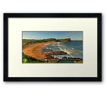 Avalon (Panoramic) - Avalon Beach, Sydney Australia - The HDR Experience Framed Print