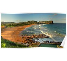 Avalon (Panoramic) - Avalon Beach, Sydney Australia - The HDR Experience Poster