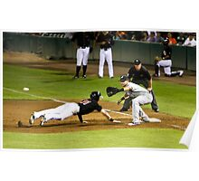Baseball - Pick Off Move to First Base Poster