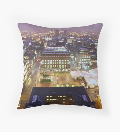 george square glasgow Throw Pillow