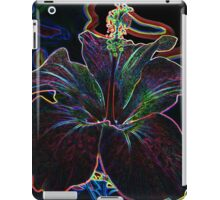 Electric glowing flower iPad Case/Skin