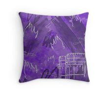 Valencia en fallas - Purple Throw Pillow