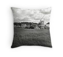 The windmill at Cley-Next-the-Sea, Norfolk, UK Throw Pillow
