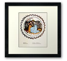Language of Flowers Kate Greenaway 1884 0049 Descriptions of Specific Flower Significations Framed Print