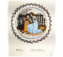 Language of Flowers Kate Greenaway 1884 0049 Descriptions of Specific Flower Significations Poster