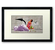 Woman at work Framed Print