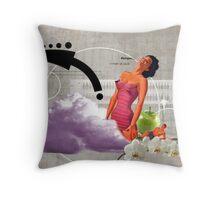 Woman at work Throw Pillow