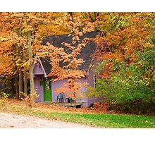 Chalet in the Woods Photographic Print