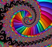 Fancy Fractal Rainbow Spiral by Julie Everhart