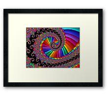 Fancy Fractal Rainbow Spiral Framed Print