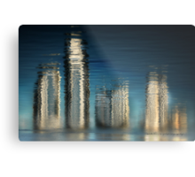 Golden Skyline © Vicki Ferrari Photography Metal Print