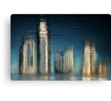 Golden Skyline © Vicki Ferrari Photography Canvas Print