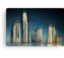 Golden Skyline © Vicki Ferrari Photography Canvas Print