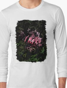 Pink Roses in Anzures 3 Letters 1 Long Sleeve T-Shirt