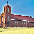 St. Francis Xavier Roman Catholic Church, Circle Montana by Bryan D. Spellman