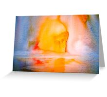 Landscape Abstract..Arctic Sun Greeting Card