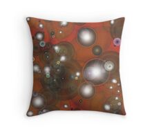 Bubbles red Throw Pillow