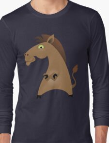 Dancing jolly horse Long Sleeve T-Shirt