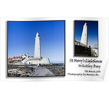 St Mary's Lighthouse, Whitley Bay, Northumberland Poster