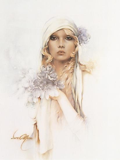"""Sara"" Portrait in Oils by Sara Moon"