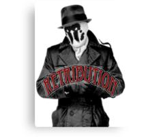 Rorschach - Retribution Red Canvas Print