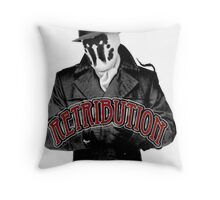 Rorschach - Retribution Red Throw Pillow