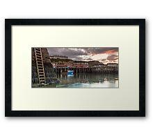 Whutby Harbour at Dusk Framed Print