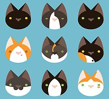 Kitties pattern by An Nuttin