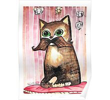Mr. Whiskers: Moustache Cat Poster