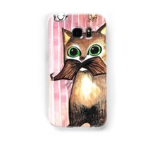 Mr. Whiskers: Moustache Cat Samsung Galaxy Case/Skin