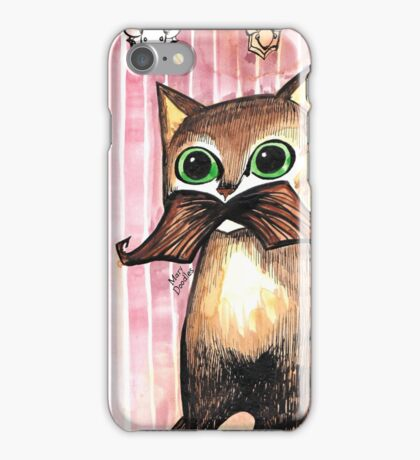 Mr. Whiskers: Moustache Cat iPhone Case/Skin
