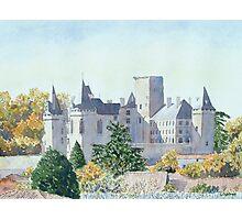 Autumn - Château, La Rochefoucauld, France Photographic Print