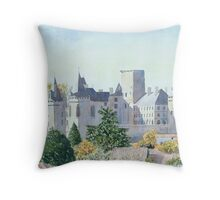 Autumn - Château, La Rochefoucauld, France Throw Pillow