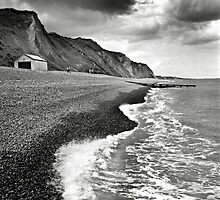 The pebble beach at Sheringham, Norfolk, UK by Richard Flint