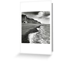 The pebble beach at Sheringham, Norfolk, UK Greeting Card