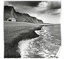 The pebble beach at Sheringham, Norfolk, UK Poster
