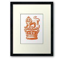 Lion & Crown Heraldry Blazon Framed Print