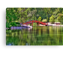 Pond Bridge (HDR) Canvas Print