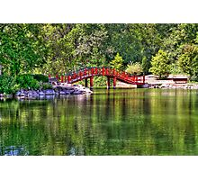 Pond Bridge (HDR) Photographic Print