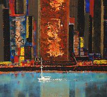 Spirit of NYC - acrylic mixed-media on canvas by robheath