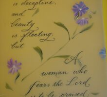 inspirational Proverbs quote for Women by Melissa Goza