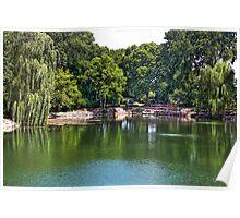 Rotary Garden Pond Poster