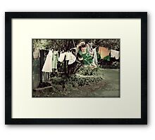 Housework is For People Who Don't Know How to Swing Framed Print