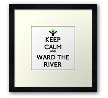 Keep calm and ward the river - League of legends Framed Print