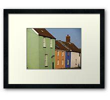 Cottages, Burnham-on-Sea Framed Print